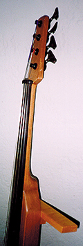 Electric cello #2 (1999): side of neck