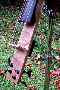 Electric cello #3 (2000): bridge and tuners