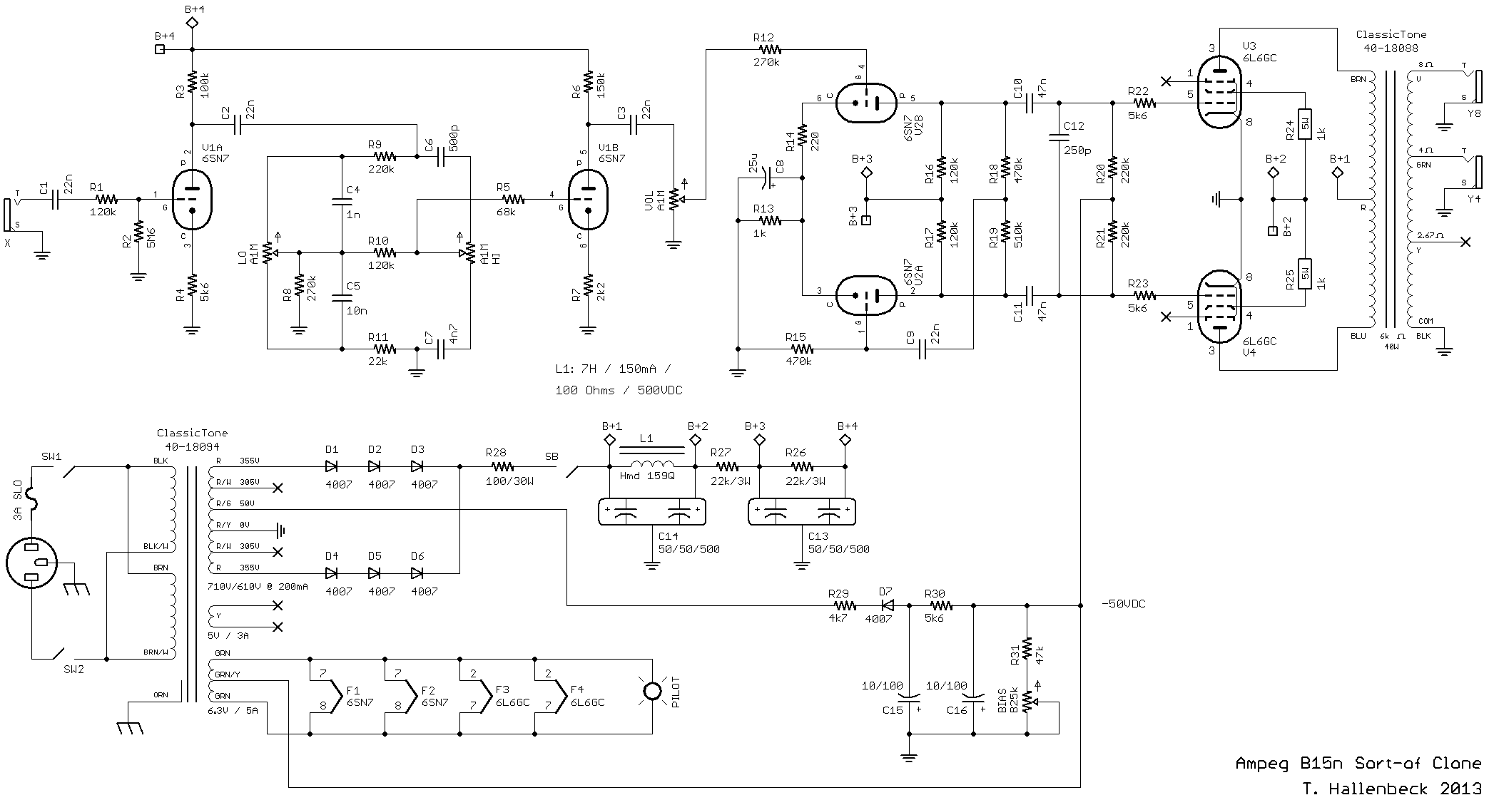 DIY Bass Guitar Tube Amp Schematic on Schematic Mesa Boogie Subway Blues