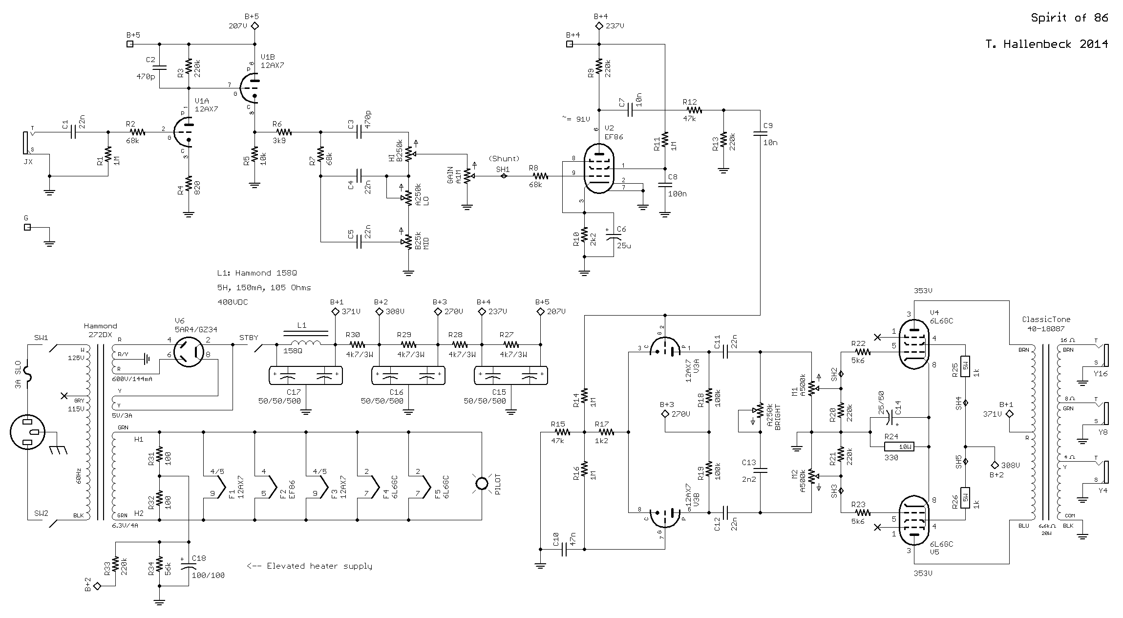 d i y amps t hallenbeck rh thallenbeck com Tube Amplifier Schematic Diagrams Simple Amplifier Schematics