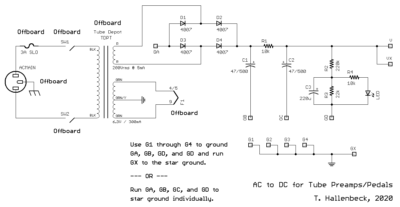 Sortaflex power section schematic